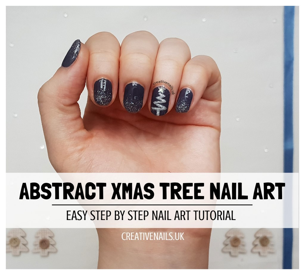 Nail Art Tutorial All I Want For Christmas Is Plaid: Abstract Christmas Tree Nail Art Tutorial