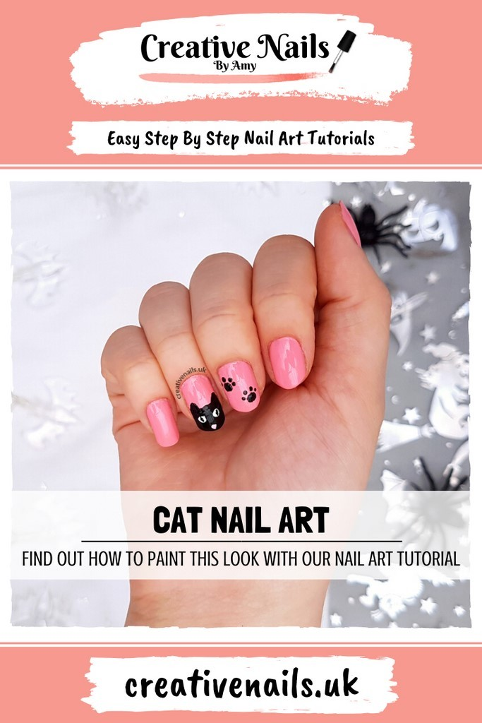 cat easy step by step nail art tutorial