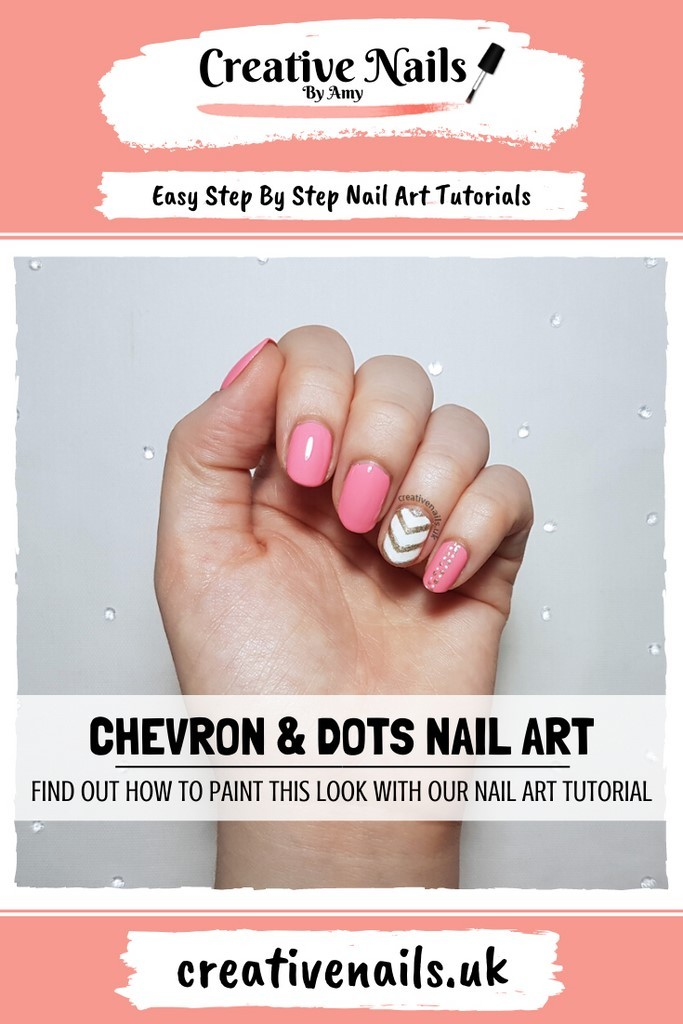chevron and dots easy step by step nail art tutorial
