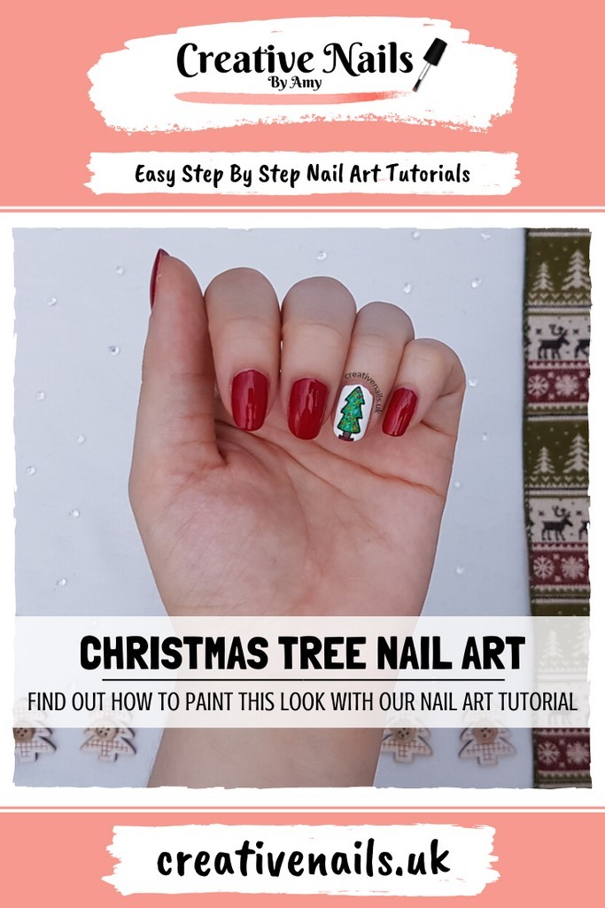 christmas tree easy step by step nail art tutorial