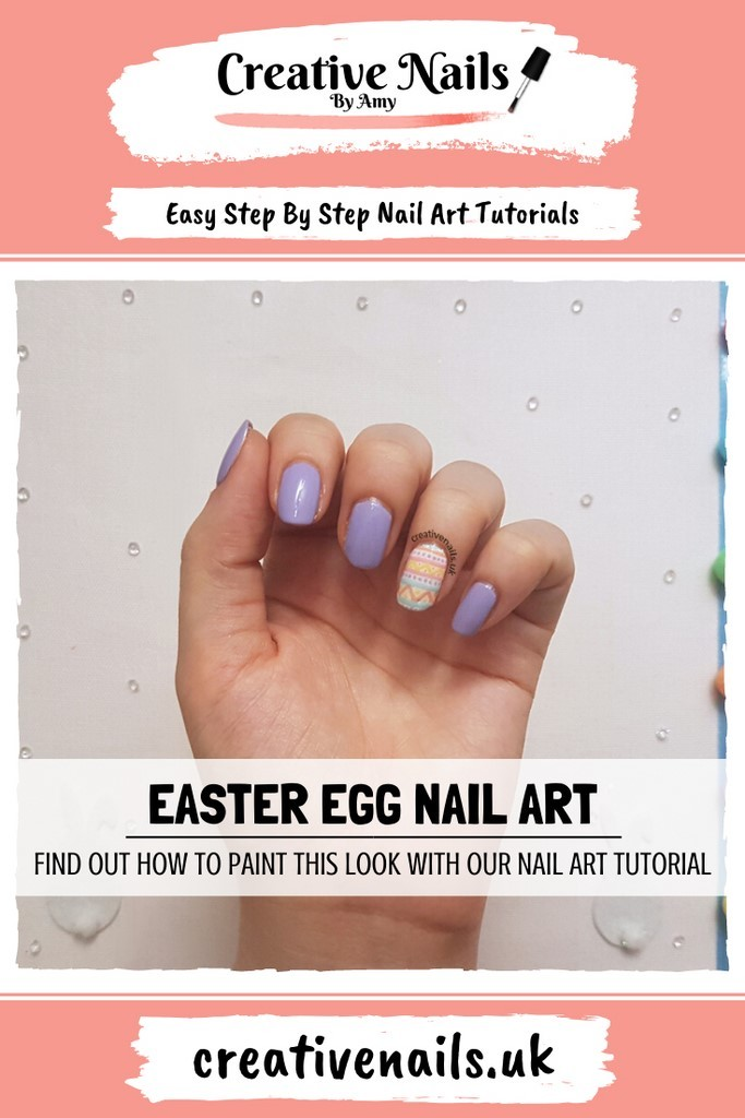easter egg easy step by step nail art tutorial