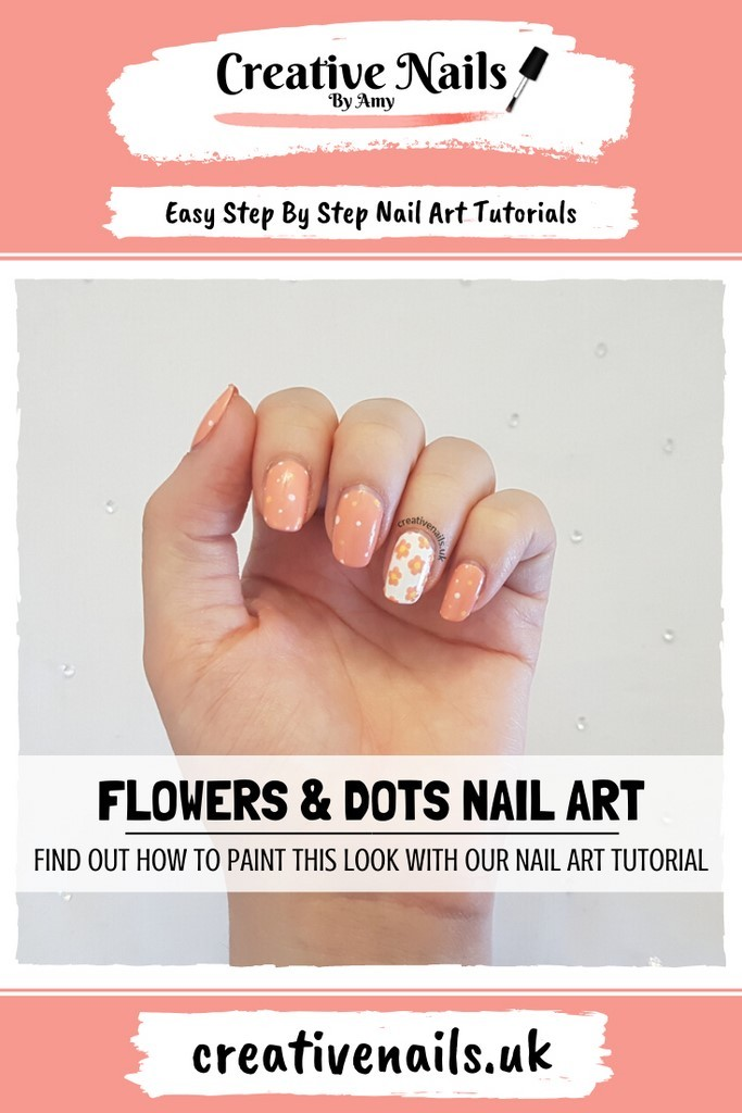 flower and dots easy step by step nail art tutorial