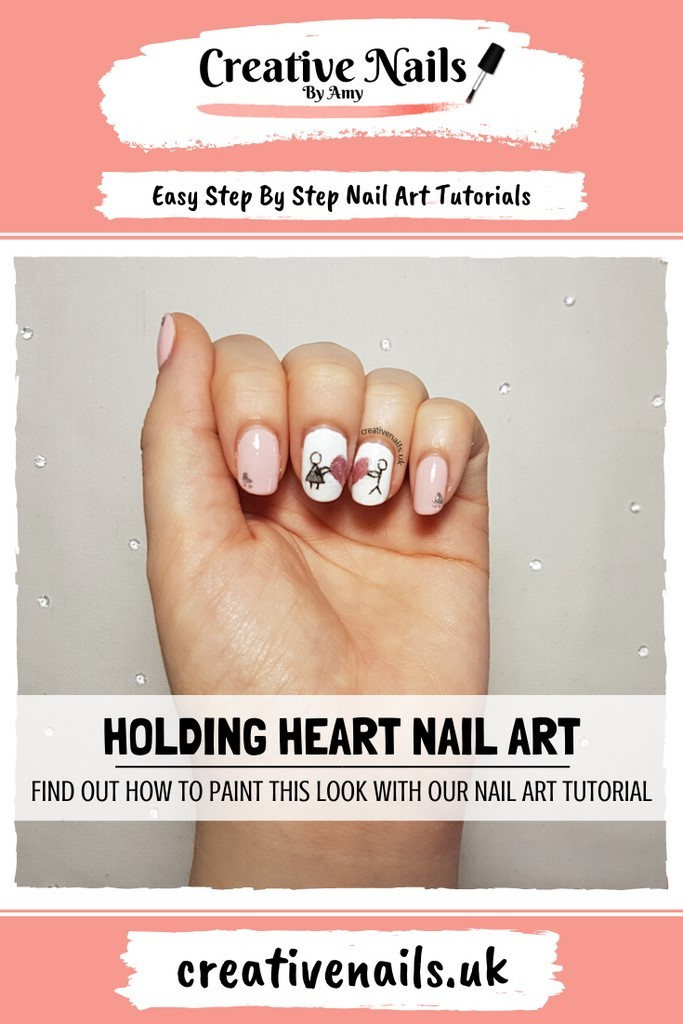 holding heart easy step by step nail art tutorial