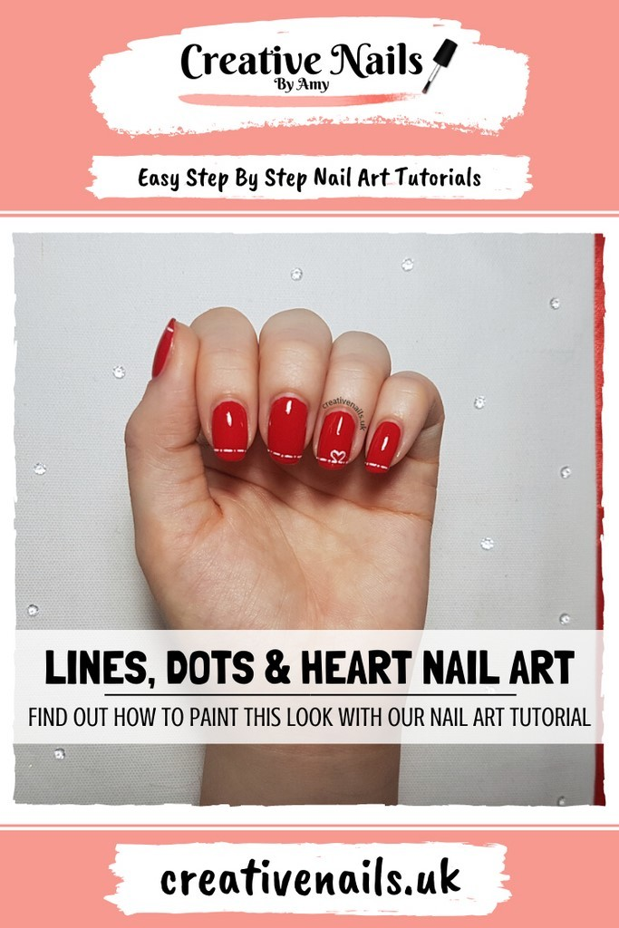 heart easy step by step nail art tutorial