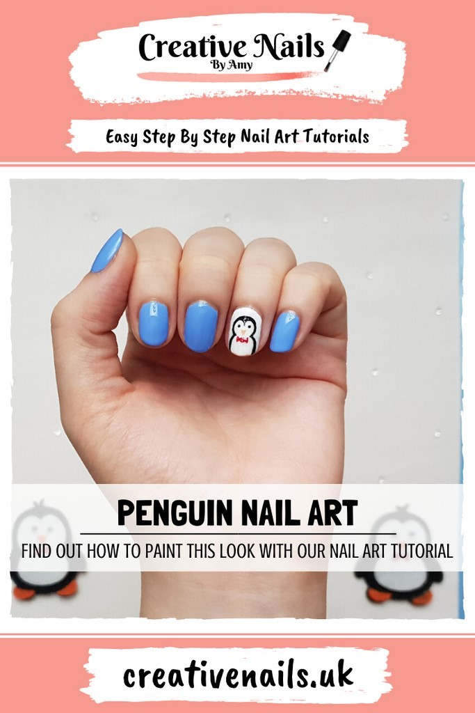 penguin easy step by step nail art tutorial