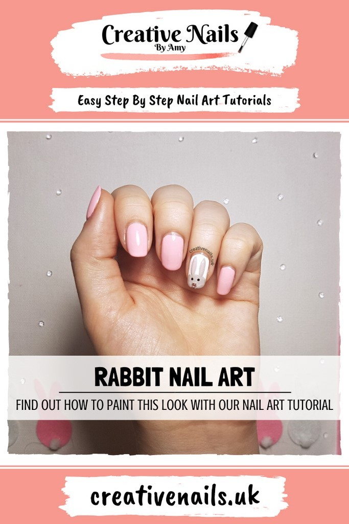 bunny easy step by step nail art tutorial
