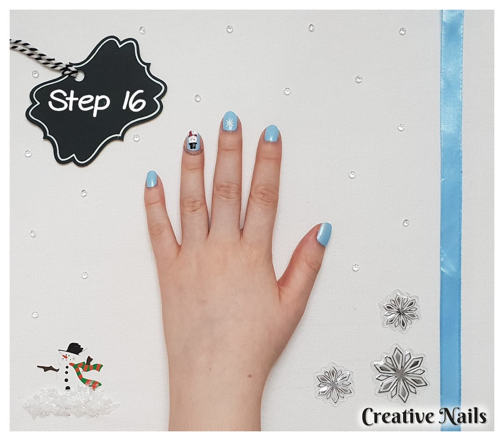 snowflake nail art designs