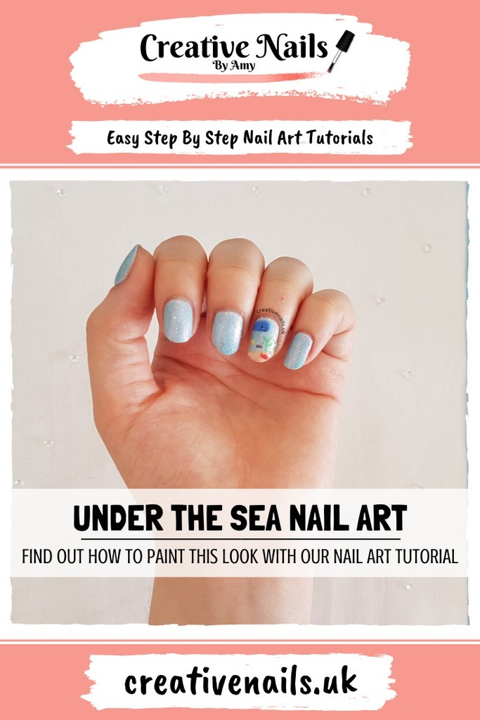 under the sea easy step by step nail art tutorial
