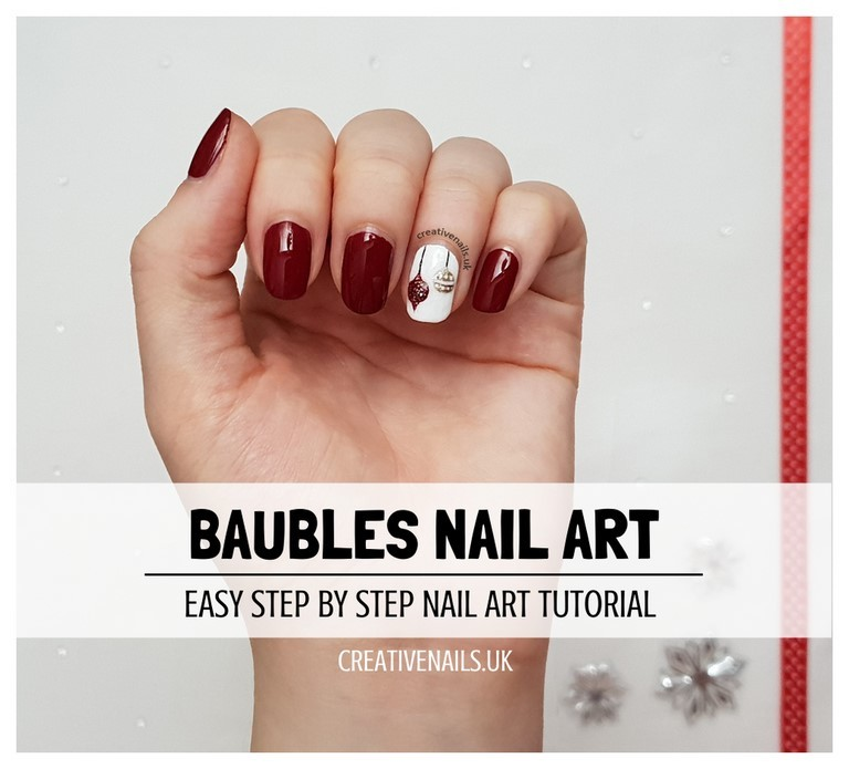 baubles nail art tutorial