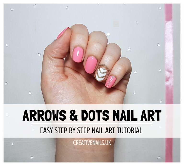 chevron and dots nail art tutorial