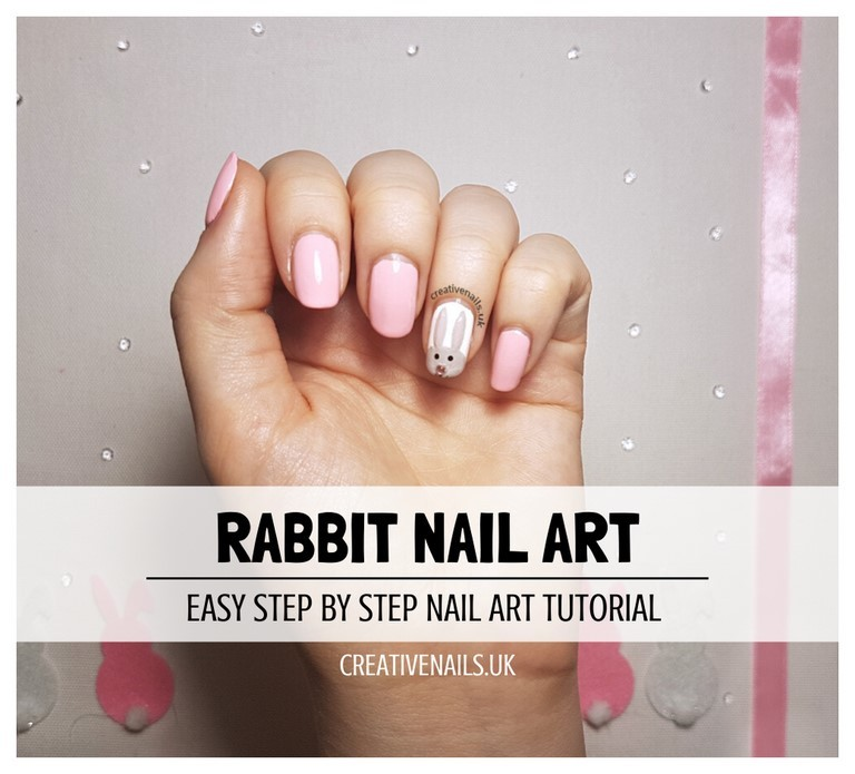 rabbit nail art tutorial