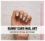 bunny ears nail art tutorial