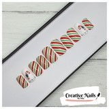 candy cane false nails