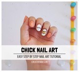 chick nail art tutorial