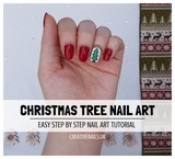 christmas tree nail art tutorial