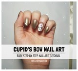 cupid's bow nail art tutorial