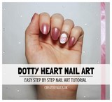 dotty heart nail art tutorial