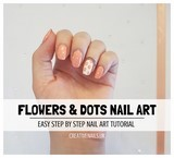 flowers and dots nail art tutorial