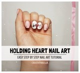 holding heart nail art tutorial