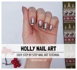 holly nail art tutorial