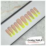 neon yellow french v tip