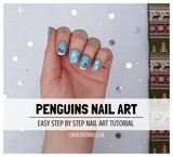 penguins nail art tutorial