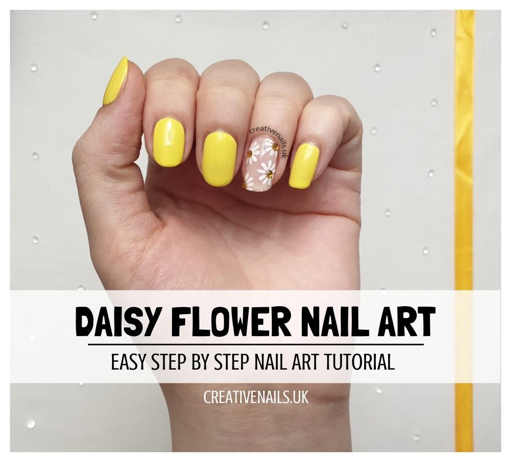 Daisy Flower Nail Art Tutorial Creative Nails